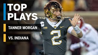 Top Plays: Tanner Morgan Highlights vs. Indiana Hoosiers | Big Ten Football
