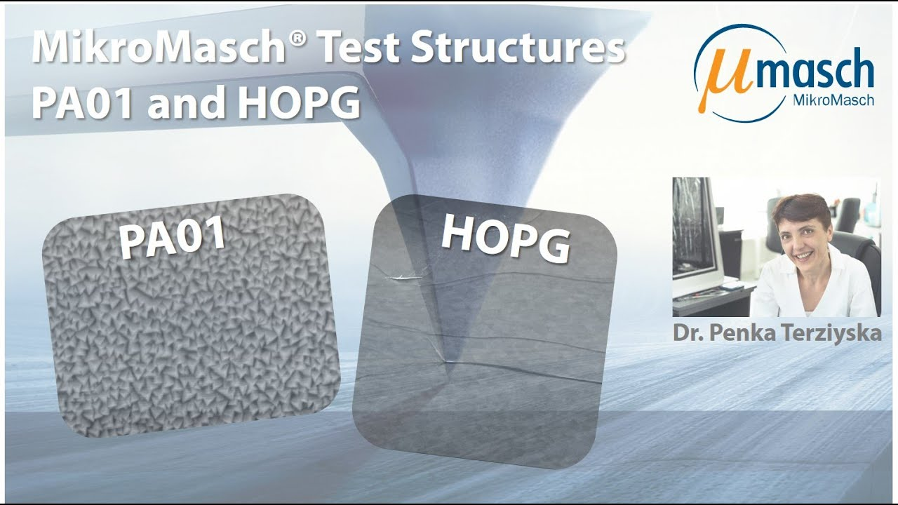 MikroMasch HQ Line Test Structures: PA01 and HOPG