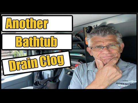 Bathtub Drain Clog