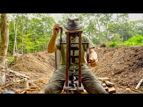 Building a Burnt Timber Frame Root Cellar with Hand Tools, Ep 2