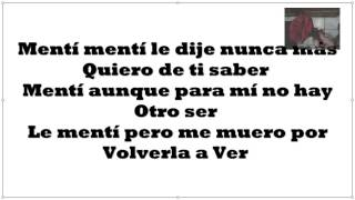 Remmy Valenzuela Mentí con letra c=