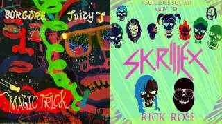PURPLE LAMBORGHINI (SKRILLEX & RICK ROSS) VS MAGIC TRICK (BORGORE & JUICY J) | NightMare Mashup.