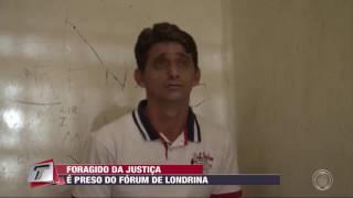Foragido da justiça é preso do fórum de Londrina