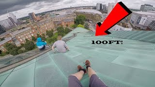 SLIDING DOWN 100FT ROOFTOP!