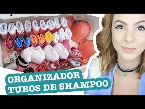 DIY Organizador p/ Gaveta de Meias e Calcinhas com Tubos de Shampoo!