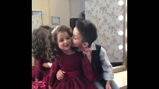 Cute lovely and funny baby couples kissing❤️😘😘😘