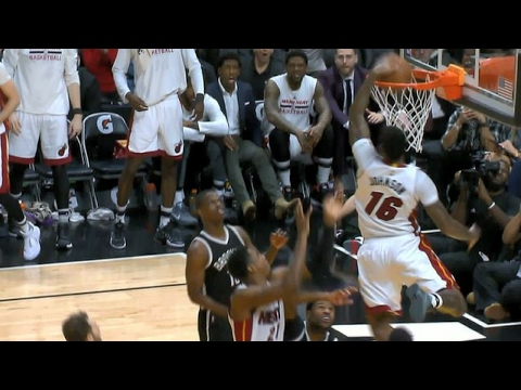 James Johnson Flies in for the Monster Putback Slam | 01.30.17