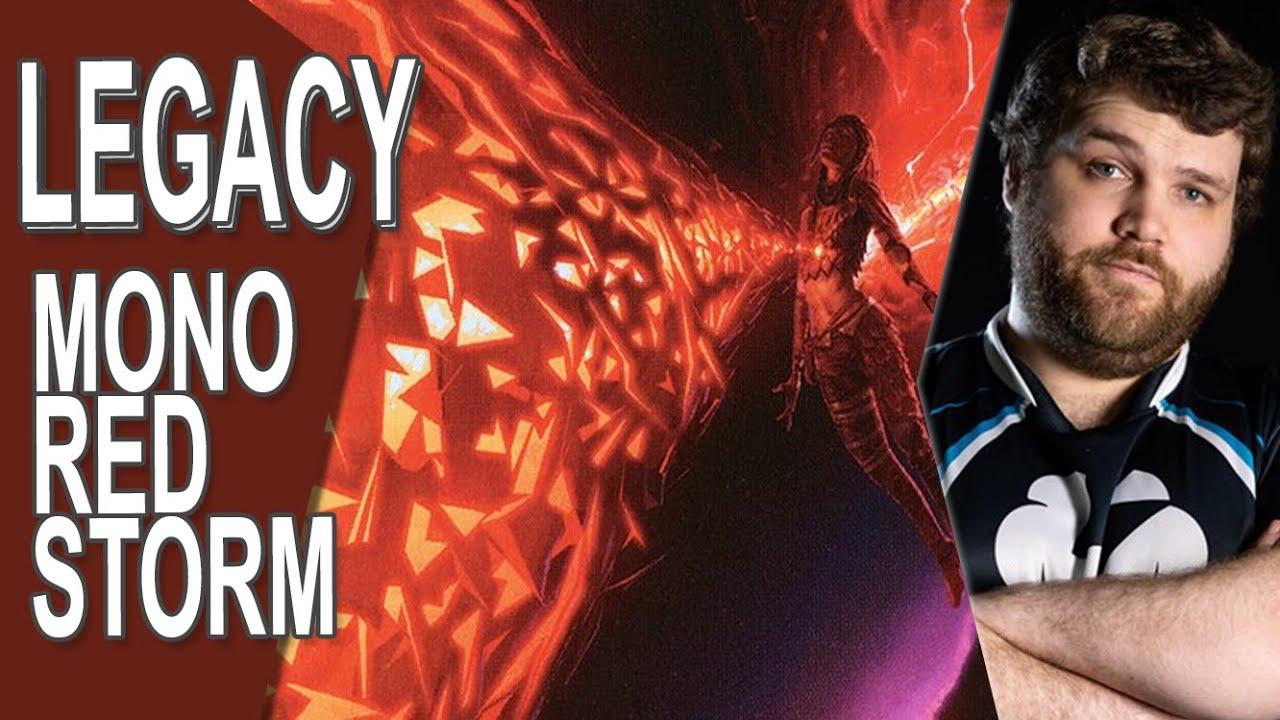 CalebDMTG - Turn One Kill in Mono Red!   Legacy Red Storm #4   MTG Gameplay