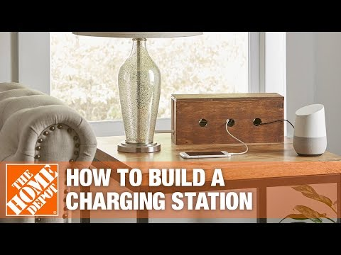 How to make a wood charging station..