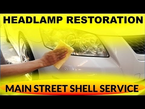 Headlight Restoration in Santa Maria- Complete Headlight Restore- Main Street Shell Service