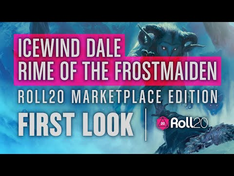 Icewind Dale: Rime of the Frostmaiden D&D Module First Look || Roll20 Marketplace Version