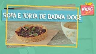 Sopa e tortinha de batata-doce   Alana Rox   Diário de Uma Vegana