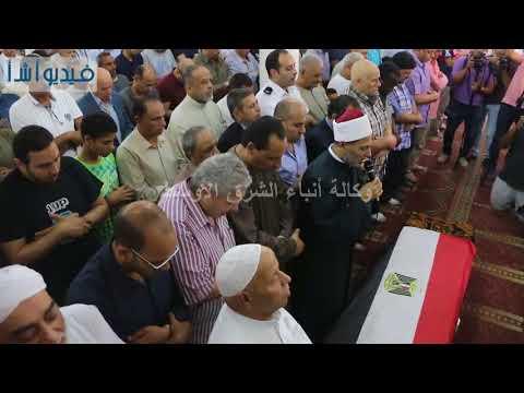 """بالفيديو : صلاة جنازة الدكتور """"رفعت السعيد"""