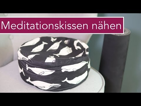 Meditationskissen / Sitzkissen nähen | kostenloses Schnittmuster