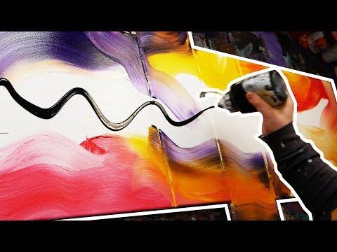 Démonstration d'une Peinture Abstraite à la peinture acrylique  | Angel