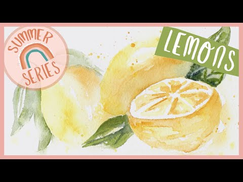Loose Lemons - Easy Watercolor Tutorial for Beginners Step by Step