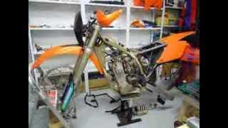 KTM EXC 450-R rebuild (done at December 2011)