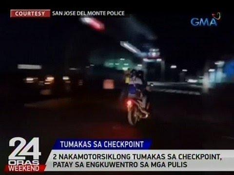 24 Oras: 2 nakamotorsiklong tumakas sa checkpoint, patay sa engkuwentro sa mga pulis