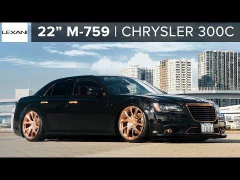 Slammed Custom Chrysler 300c on Lexani Copper Finish Wheels