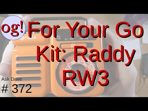 Radioddity Raddy RW3 Go-Kit-Type Radio AM/FM/WX, Phone Charger and More (#372)