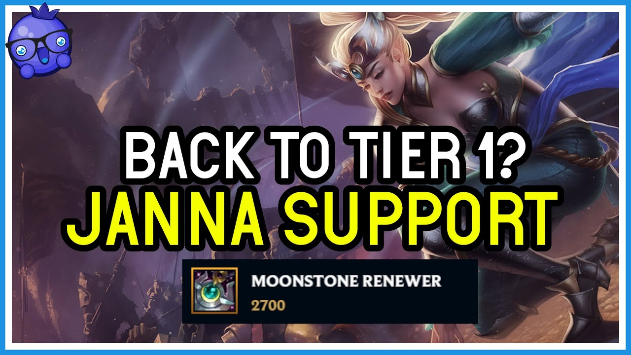 Bizzleberry - Can Moonstone Janna hold off against Double Engage bot lane? - League of Legends
