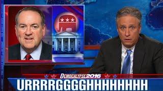 Mike Huckabee leaves Jon Stewart speechless