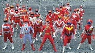 """Ginga Sakuretsu! - Super Sentai """"Forever Red"""" 25th anniversary music"""