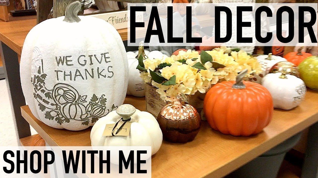 SHOP WITH ME FOR FALL DECOR   TJMAXX   FALL 2017
