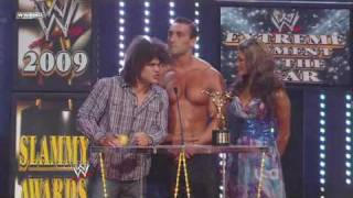 Carlito, Eve and Chris Masters funny segment - WWE Slammy Awards 2009 on WWE Monday Night RAW