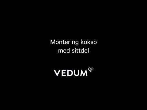 Vedum Kök & Bad - Monteringsfilm Köksö 1200 och 1600 med sittdel