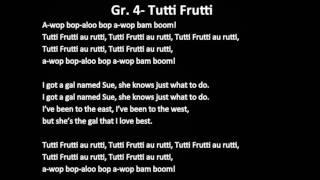 Tutti Frutti Instrumental (no voices)