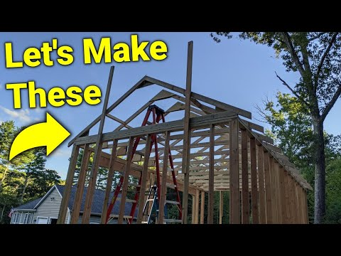 ► How I Built a Shed: Roof Truss Construction Highlights