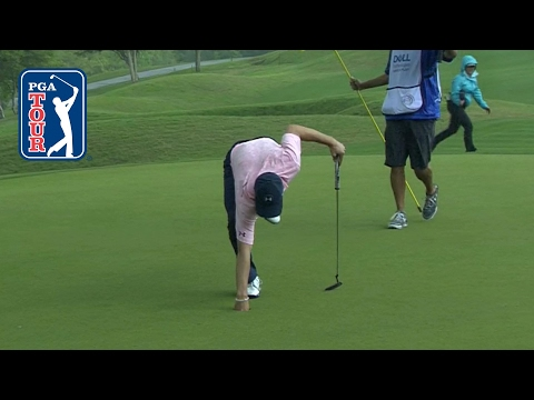 Jordan Spieth drops in a huge eagle putt at Dell Match Play