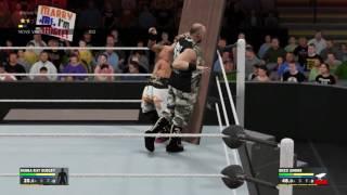 WWE 2K17: uso de las mesas