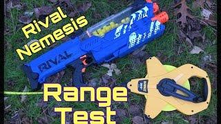 Range Test: Nerf Rival Nemesis MXVII-10K