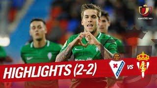 Resumen de SD Eibar vs Real Sporting (2-2)