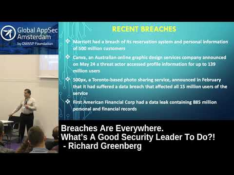 Breaches Are Everywhere. What's A Good Security Leader To Do?! - Richard Greenberg