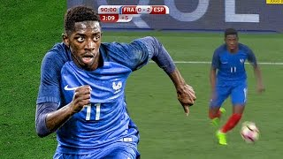 Ousmane Dembele Crazy Solo Dribbling - France vs Spain | 2017 | HD