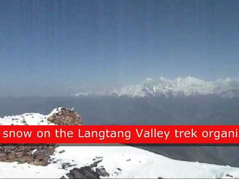 View of Ganesh Himal and Langtang lirung after fresh snowfall.wmv
