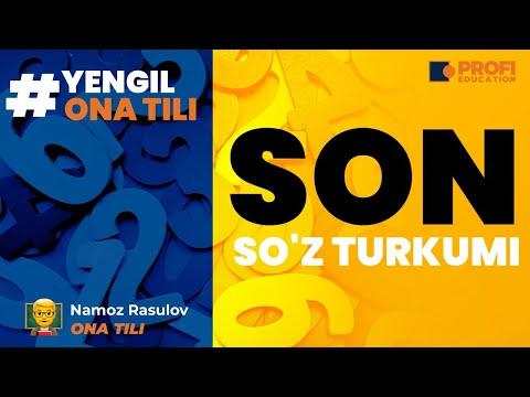 YENGIL ONA TILI. SON SO`Z TURKUMI.