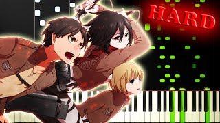 ATTACK ON TITAN SEASON 1 OP (Guren-No-Yumiya 進撃の巨人) - Piano Tutorial