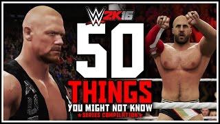50 cosas que quizás no sepas de WWE 2K16
