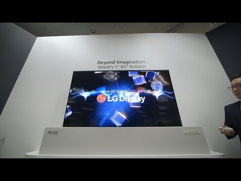 LG Display 65-inch rollable OLED TV first look