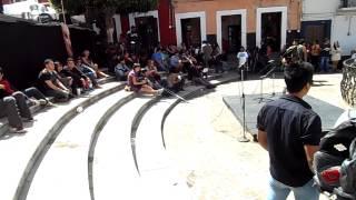 LLegando a la plaza central del callejon del beso