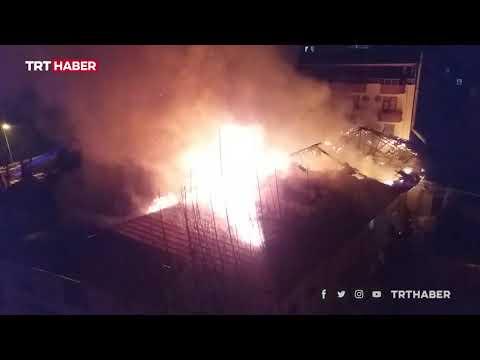 Kahramanmaraş'ta askeri kışlada yangın