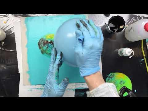 ( 871 ) Acrylic on Acrylic paper balloon press