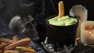 Churros with Green Witches Brew Dip