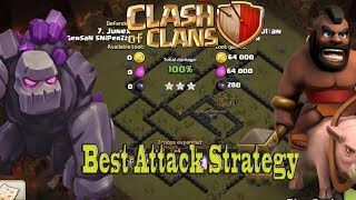 TH9 War Attack   Best Strategy Without King & Queen   War Without Hero Part 1 2017
