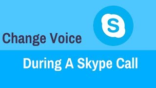 How to change voice during a skype call
