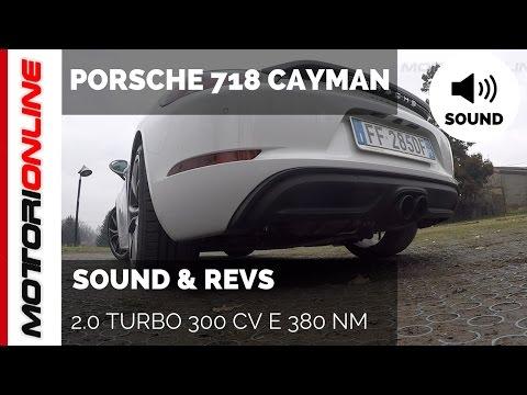 Porsche 718 Cayman   SOUND  REVS